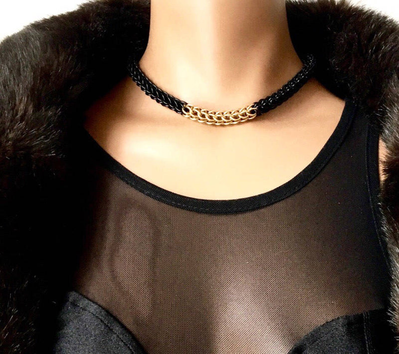 Elegant Chainmail Choker - Handmade Chain - Modern Chainmail - Chainmail Chain Choker Necklace - Unique Choker - Pretty Necklace - Cool Gift