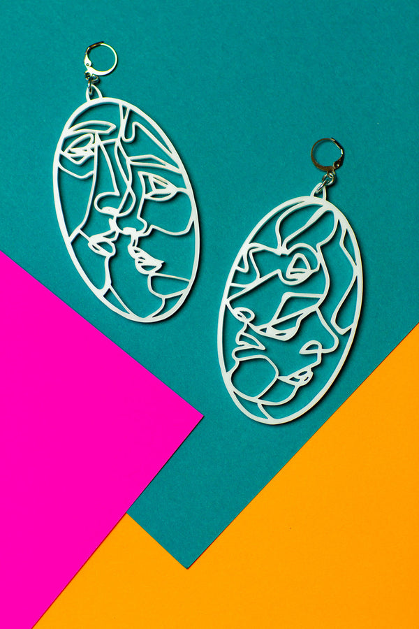 Four Faces of Truth Earrings