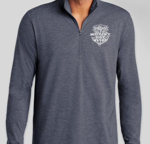 Unisex Quarter Zip Long Sleeve Shirt