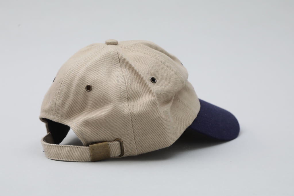 Navy and Tan Hat