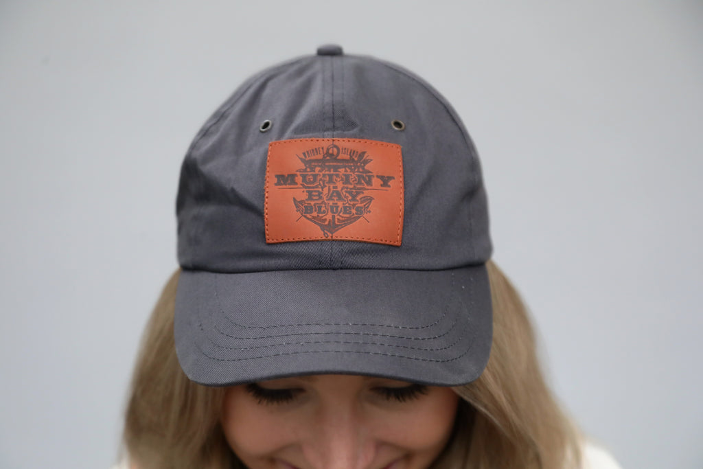 Charcoal Hat with Leather Patch
