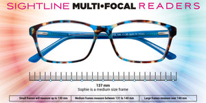 Sophie Stylish Woman's Multifocal Reading Glasses