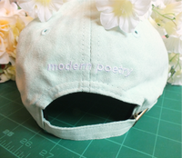 Modern Poetry Embroidered Cap