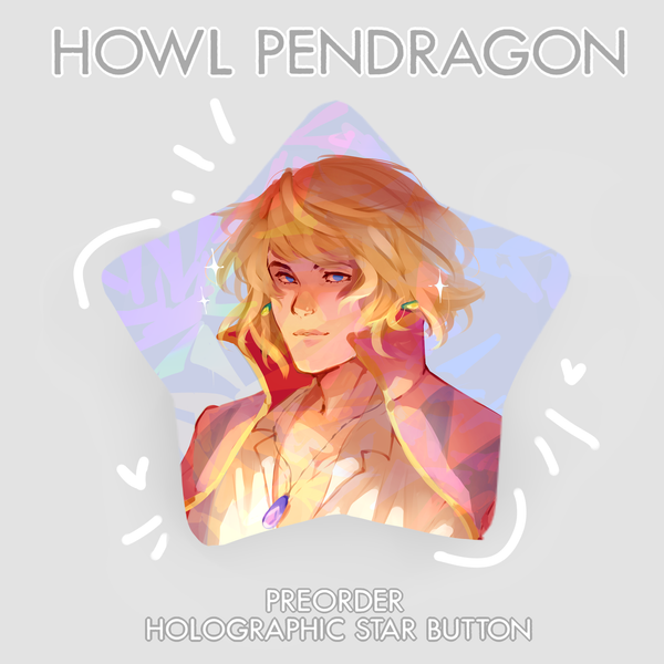 [PREORDER] Howl Pendragon Holo Star Button