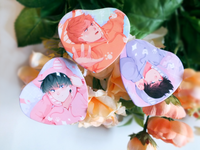 MP100 Animal Hoodie Heart Buttons