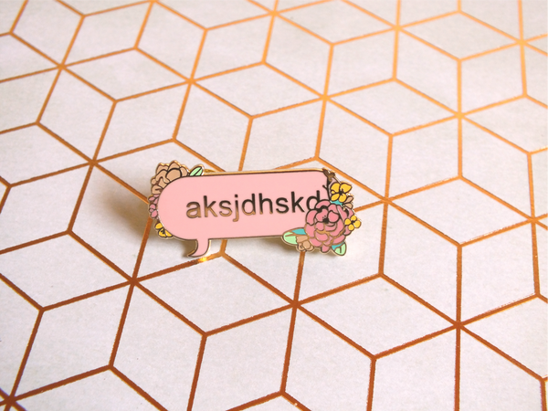 Modern Poetry Enamel Pin