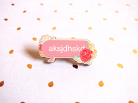 Modern Poetry Wooden Pin