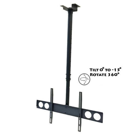 MegaMounts Heavy Duty Tilting Ceiling Television Mount for 37