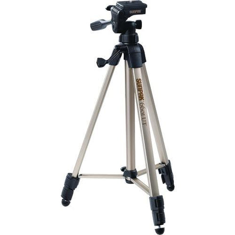 "Sunpak Tripod With 3-way Pan Head (folded Height: 20.3""; Extended Height: 58.32""; Weight: 2.8lbs; Includes 2nd Quick-release Plate) (pack of 1 Ea)"