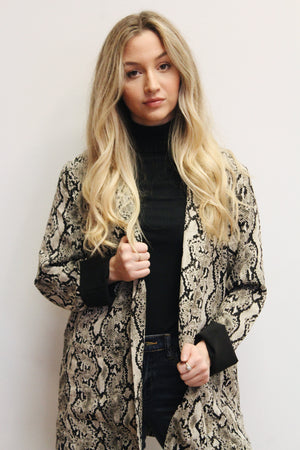 Best For Last Snake Print Blazer Jacket