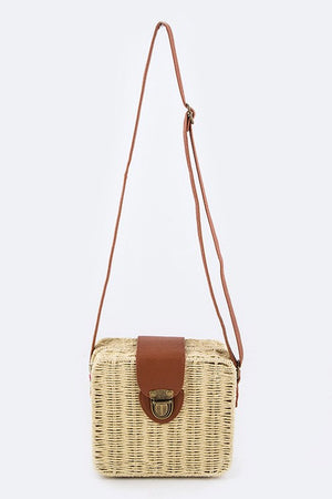 Day in the Park Woven Swing Bag - Savoir-Faire | Women's Clothing Boutique