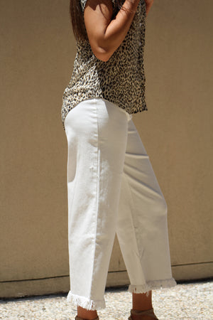 That Time Of Year White Fringe Pant
