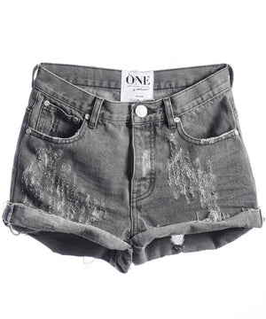 One Teaspoon Phantome Hawk Denim Shorts - Savoir-Faire | Women's Clothing Boutique