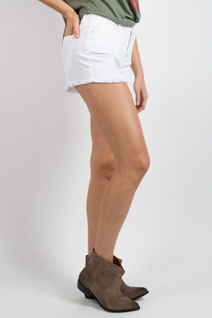 Blank NYC White Broney Denim Short - Savoir-Faire | Women's Clothing Boutique