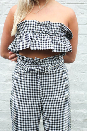 Call Me Maybe Gingham Ruffle Top