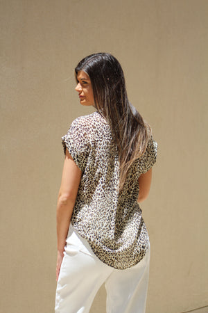 Season Of Fun Leopard Print Top