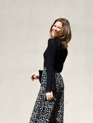 What Love Is Dotted Wide Leg Pants