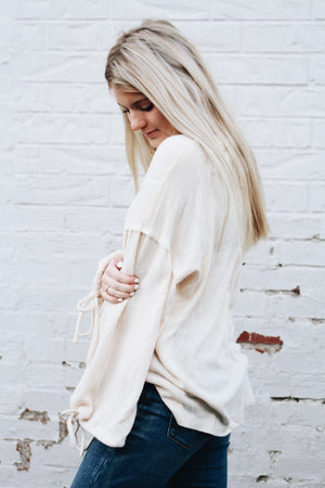 This Time Around Bubble Sleeve Pullover