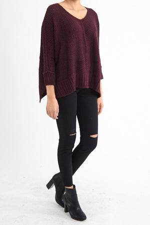 Think Twice Round Neck Sweater - Savoir-Faire | Women's Clothing Boutique