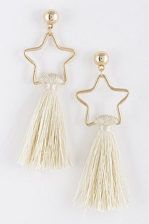 Stars and Tassels Earring