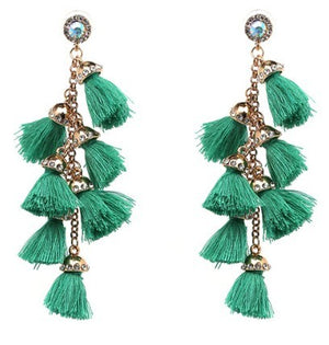 Holy Tassels Statement Earring - Savoir-Faire | Women's Clothing Boutique