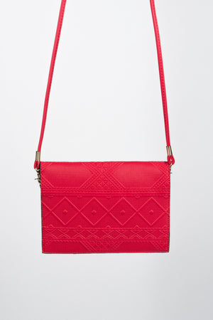 Mini Textured Envelope Shoulder Bag