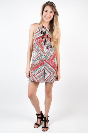 Aztec Babette Romper - Savoir-Faire | Women's Clothing Boutique