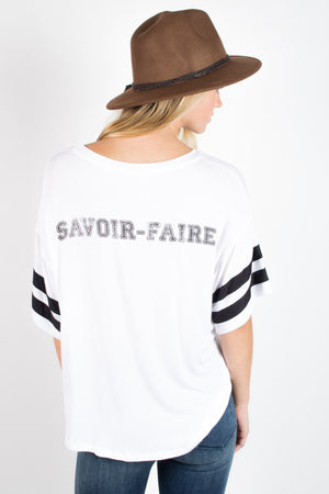 Daydreamer Savoir-Faire Game Day Top - Savoir-Faire | Women's Clothing Boutique