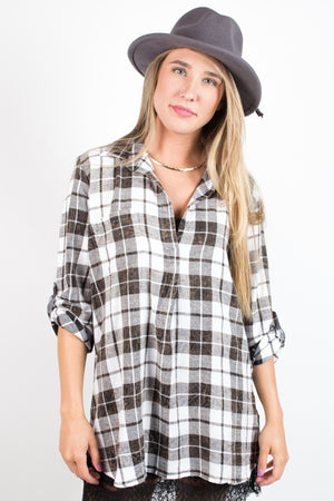 Keeping it Cool Plaid Top