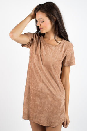 Shades of Suede Shift Dress