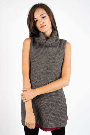 Everyday Sleeveless Cowl Neck Sweater