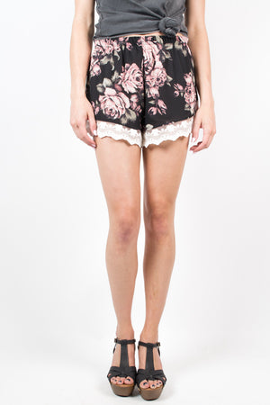 Vintage Rose Lace Shorts - Savoir-Faire | Women's Clothing Boutique