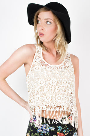 The Modernist Lace Tank Top