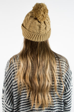 Winter Weather Pom Pom Beanie