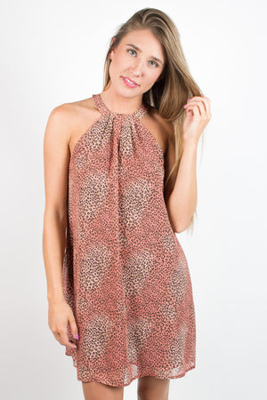Animal Print Swing Dress - Savoir-Faire | Women's Clothing Boutique
