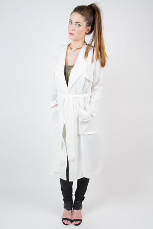 Line and Dot Soft Trench Coat - Savoir-Faire | Women's Clothing Boutique