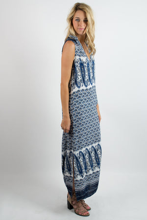 Ongoing Waves Sleeveless Dress - Savoir-Faire | Women's Clothing Boutique