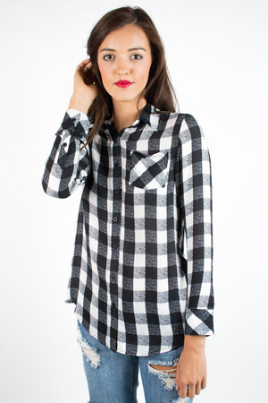 Velvet Heart Valerie Long Sleeve Plaid - Savoir-Faire | Women's Clothing Boutique