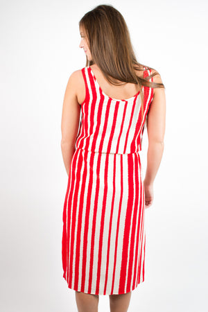 Glam Jagged Stripe Tank Dress - Savoir-Faire | Women's Clothing Boutique