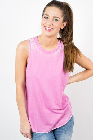 Pink Chaser Drape Back Top