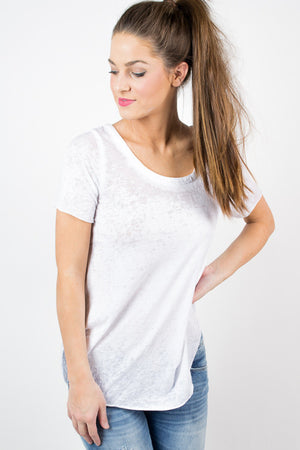 White Chaser V Back Tee