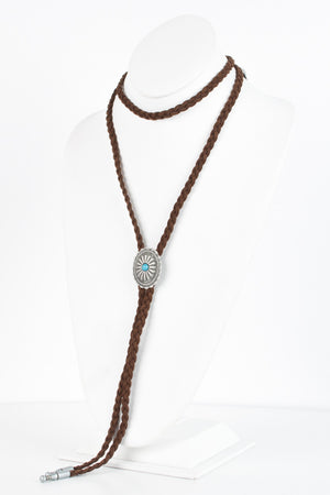 Oval Concho Wrap Necklace - Savoir-Faire | Women's Clothing Boutique
