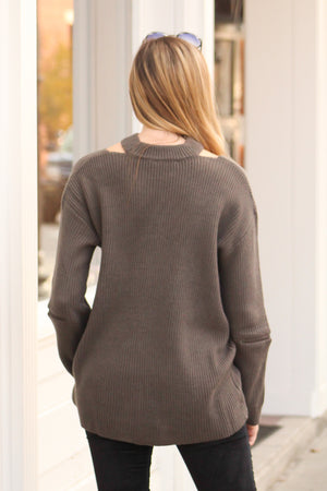 Go Your Own Way Zipper Detail Sweater