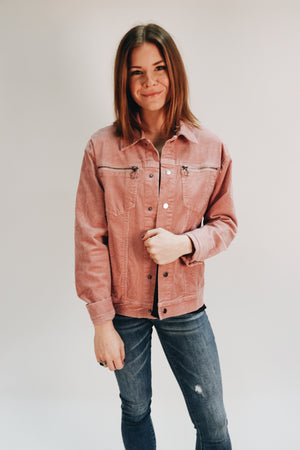 Heart and Soul Blush Corduroy Jacket