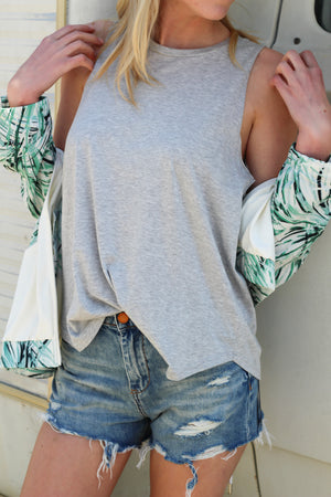At Ease Sleeveless Knit Top