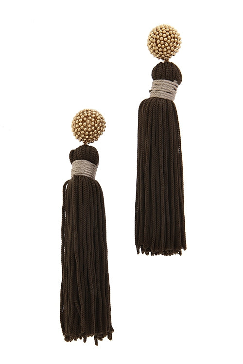 Two for the Show Tassel Earring
