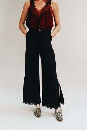 Best For Last Side Slit High Waisted Pants