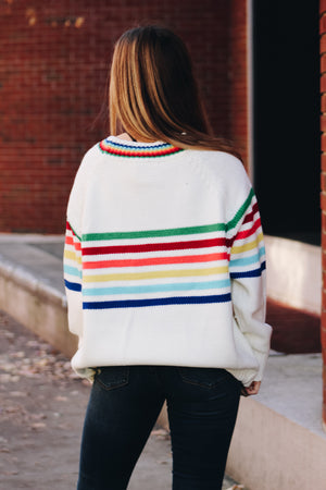 Color Me Happy Striped Chunky Sweater