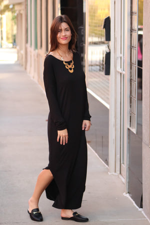 Better to Gather Twist Back Maxi Dress
