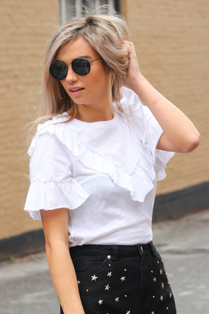 All Ruffle Everything Knit Tee